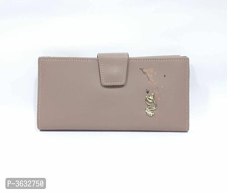 Stylish Biege PU Wallet For Women