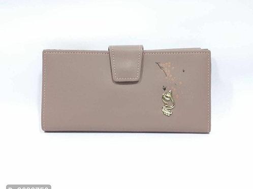 Stylish Biege PU Wallet For Women