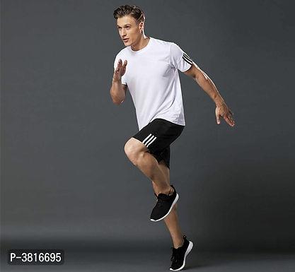 White T Shirt & Shorts Set