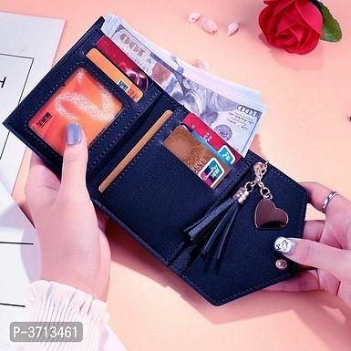 Leather Blue Women Wallets