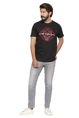 What if -Printed Round Neck Tshirt