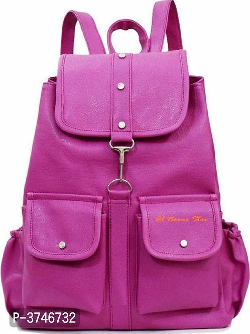 Purple PU Backpacks For Women