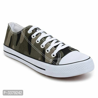 Printed Lace Up Camouflage Canvas Ultra Light Sneakers