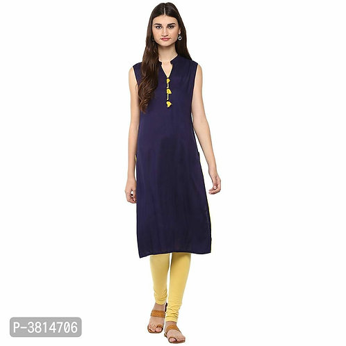 Navy Blue Sleeveless Kurtas