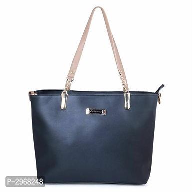 Black PU Hand-held Bag