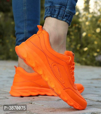 Orange Sports Shoes For Men