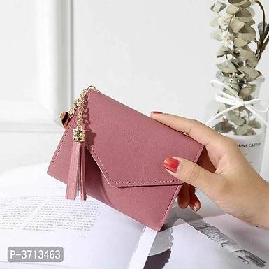 Leather Peach Women Wallets