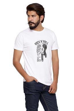 Rock & Roll -Printed Round Neck Tshirt