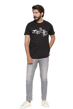 Joining hands-Printed Round Neck Tshirt