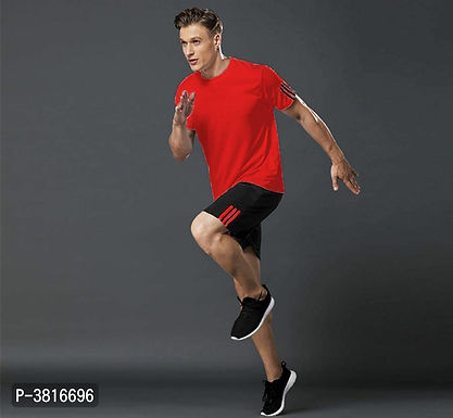 Red T Shirt & Shorts Set