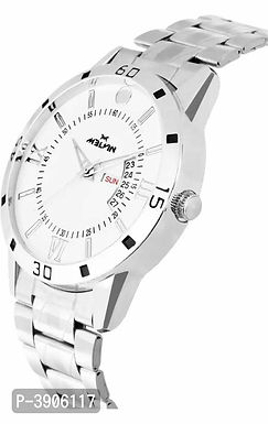 Metal White dial Day & Date Watches For Men
