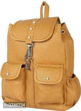 Brown PU Backpacks For Women