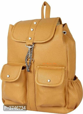 Brown PU Backpacks For Women