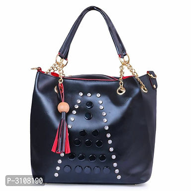 Black PU Hand-held Bag