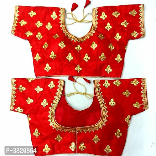 Red Embroidered Stitched Blouses