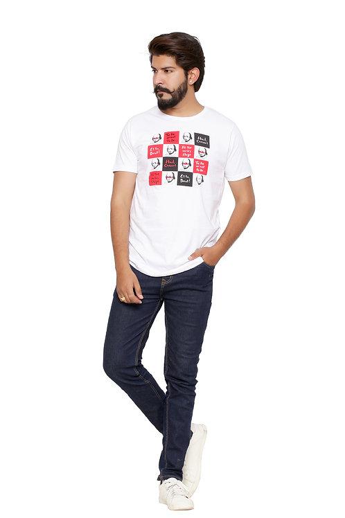 william -Printed Round Neck Tshirt