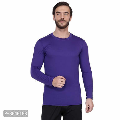 Spandex Purple Sports T-Shirt