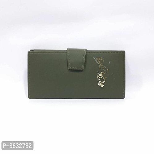 Stylish Grey PU Wallet For Women