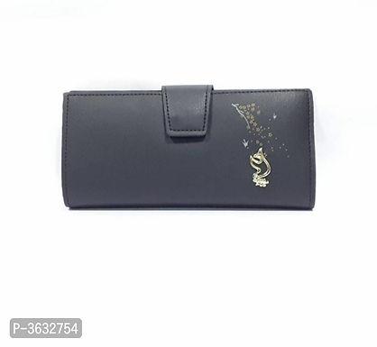Stylish Black PU Wallet For Women