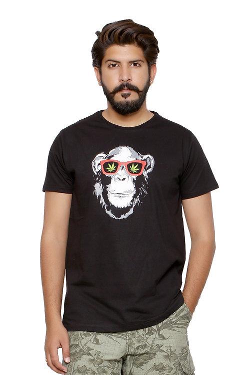 Vanar Weed  -Printed Round Neck Tshirt