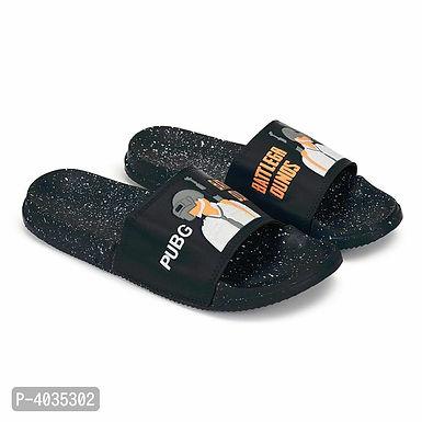 Black PUBG Sliders For Men