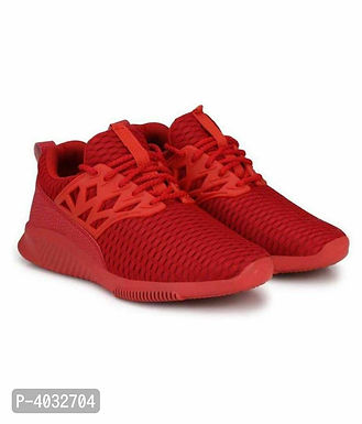 Stylish Red Printed Running Shoes