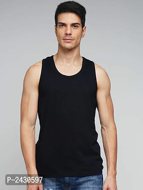 Black Cotton Vest