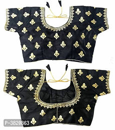 Black Embroidered Stitched Blouses
