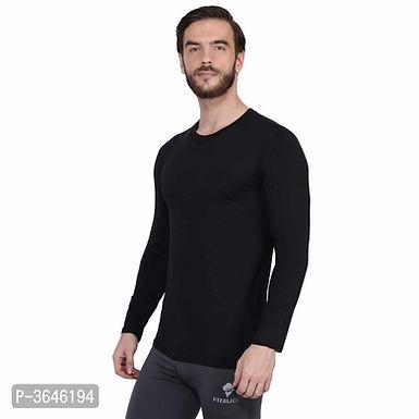 Spandex Black Sports T-Shirt