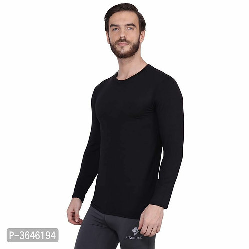 Spandex Black Sports T-Shirt