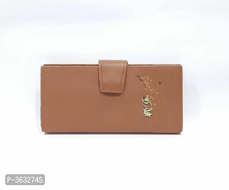 Stylish Brown PU Wallet For Women