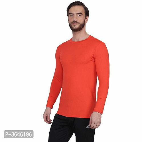 Spandex Orange Sports T-Shirt