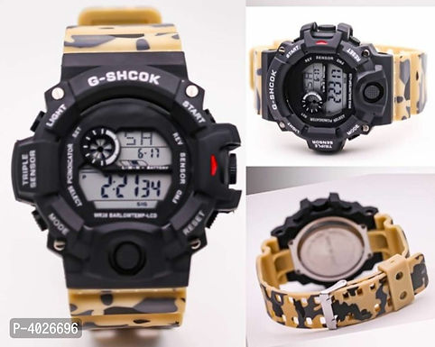Yellow camouflage digital Watch For Men
