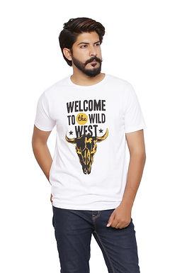 Wild West -Printed Round Neck Tshirt