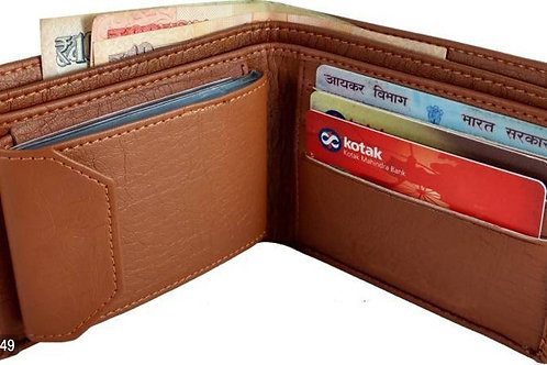 Fresh Arrival Brown Two Fold Wallet
