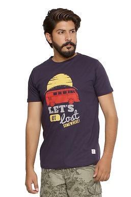 Let's get lost -Printed Round Neck Tshirt