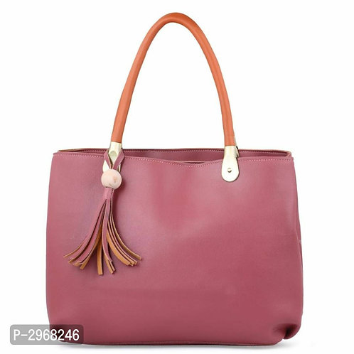Pink PU Hand-held Bag