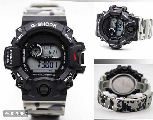 Grey camouflage digital Watch For Men