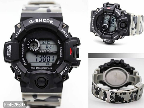 Grey camouflage digital Watch For Men