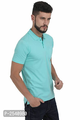 Light Blue Solid Polo T-Shirt