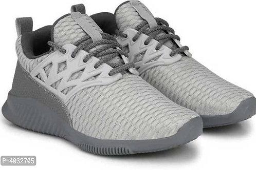 Stylish Grey Printed Running Shoes