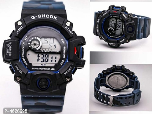 Blue camouflage digital Watch For Men