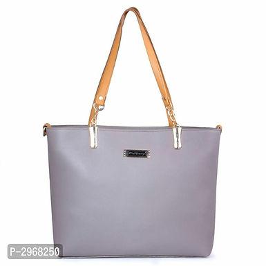 Grey PU Hand-held Bag