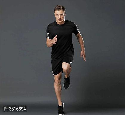 Black T Shirt & Shorts Set