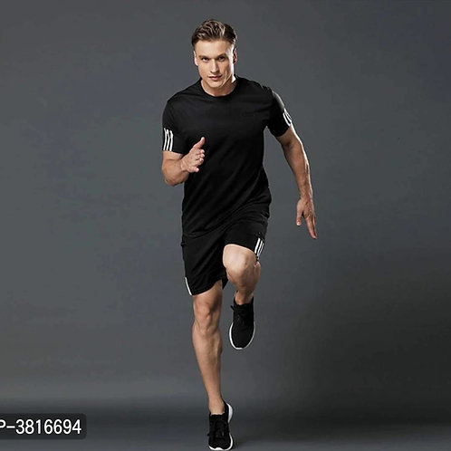 Black T Shirt & Shorts Set