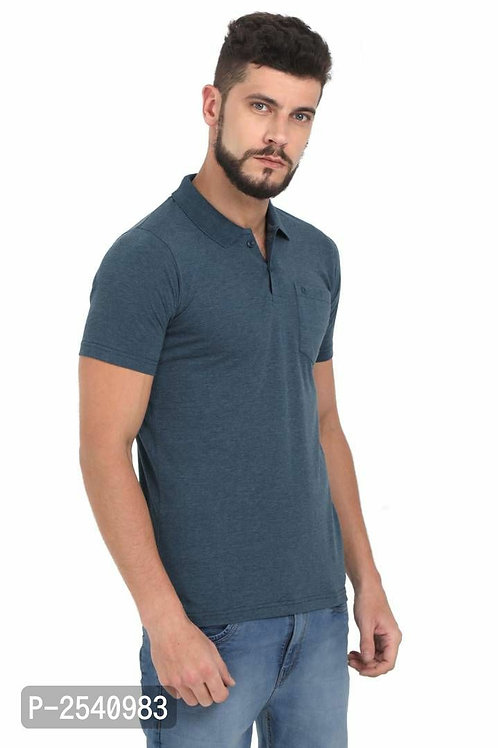 Green Solid Polo T-Shirt