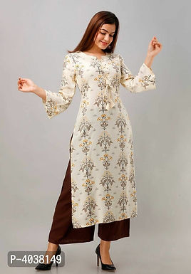 Stylish Off White Kurta With Palazzo