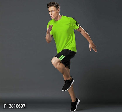 Green T Shirt & Shorts Set