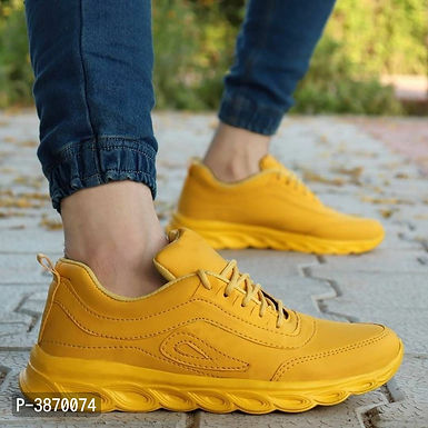 Yellow Sports Shoes For Men