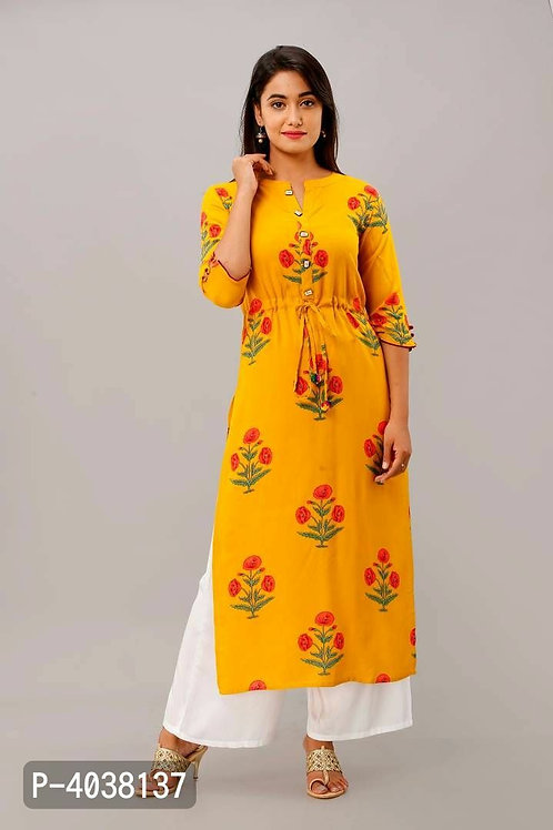 Stylish Mustard Yellow Kurta With Palazzo